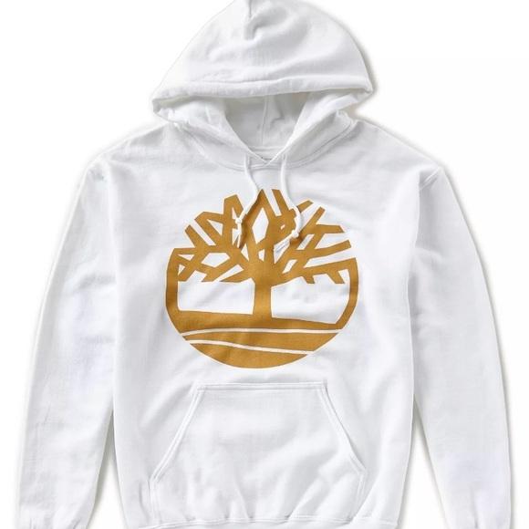 a6503efdd1 Timberland Shirts | Nwt Mens White Tree Logo Fleece Hoodie | Poshmark
